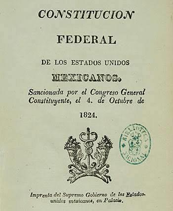 Promulgación de la Constitución Mexicana.