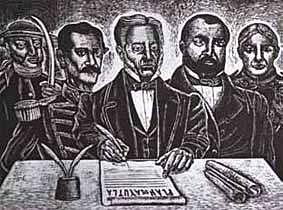 Contra el gobierno de Santa Anna