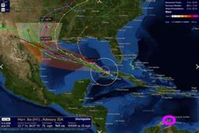 Hurricane Ike makes landfall on the Texas Gulf Coast of the United States,
