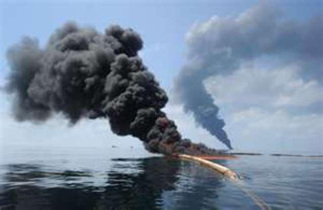 Deepwater Horizon oil platform explodes
