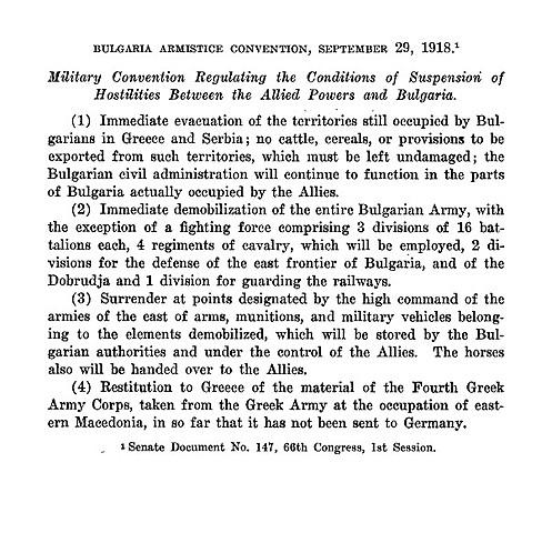 Armistici de Bulgària