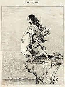 Honoré Daumier-La Mort de Sappho