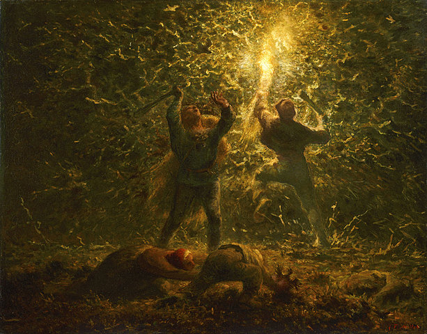 Jean-François Millet: Hunting Birds at Night