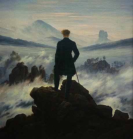 FRIEDRICH - El caminante sobre el mar de nubes