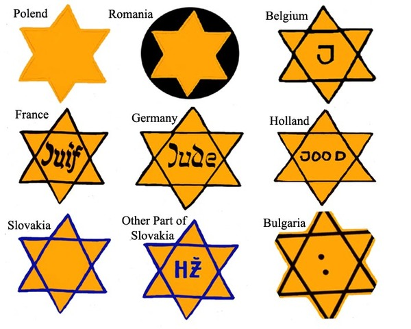 Jews forced to wear distinguishing badge