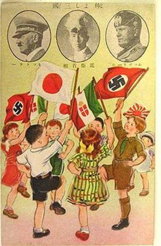 Hungary, Rumania, and Slovakia join Rome-Berlin-Tokyo Axis.