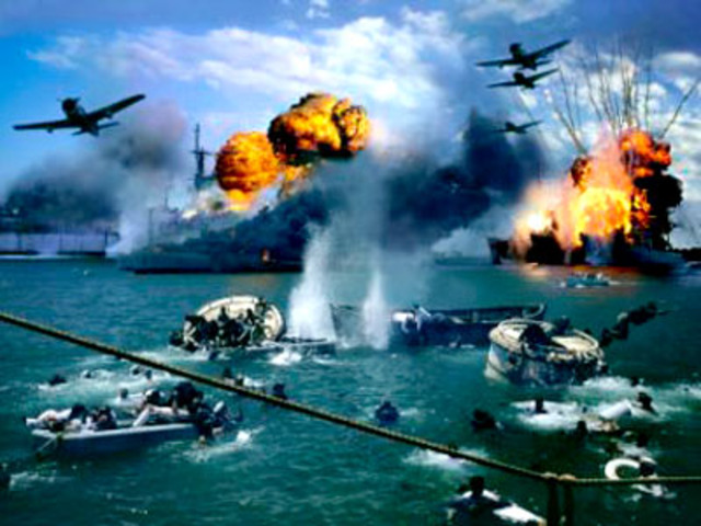 Japanese attack on Pearl Harbor.