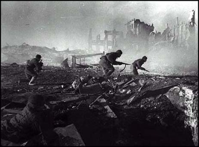 German advance in Russia stopped at Stalingrad.