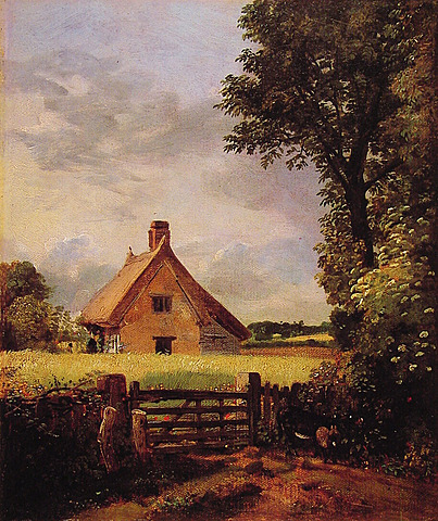 Constable- A cottage in a cornfield