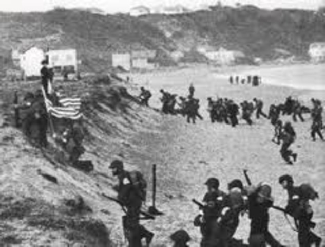 Allied forces land in North Africa.