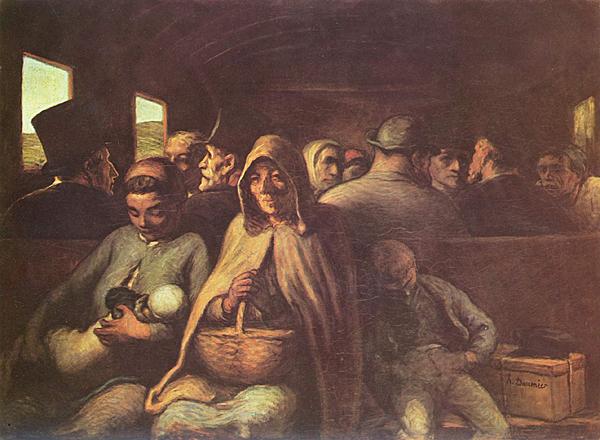 Honoré Daumier(1808-1879)- El vagó de tercera classe