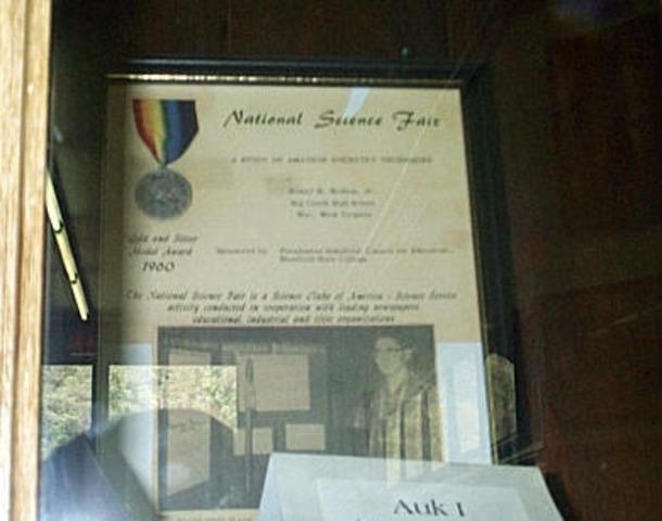 Homer Hickam Jr. wins National Science Fair Medals