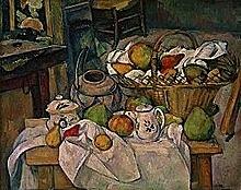 PAUL CÉZANNE - Natura morta amb cistell de fruita