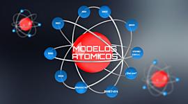 MODELOS ATÓMICOS timeline