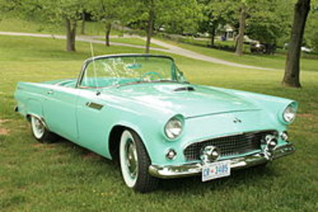 Last Ford T-bird rolls off the assembly line