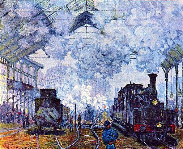 Monet (1840-1926)-Chegada do Trem da Normandia