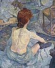 Toulouse Lautrec (1864 - 1901)- Femme à sa toilette