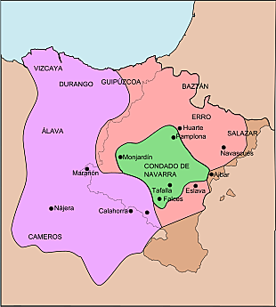 Division of the kingdom of Pamplona