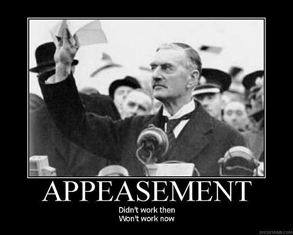 Appeasement.