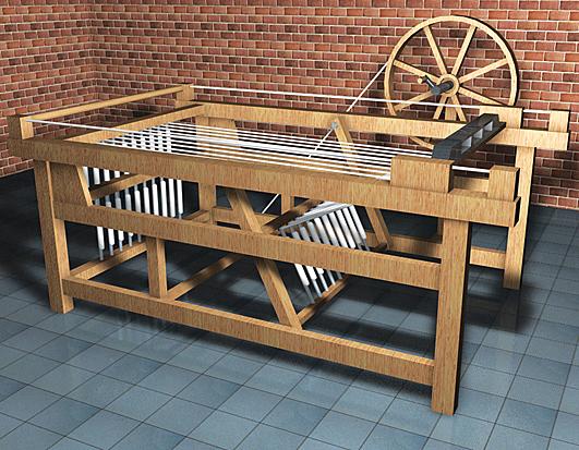 Primera máquina textil