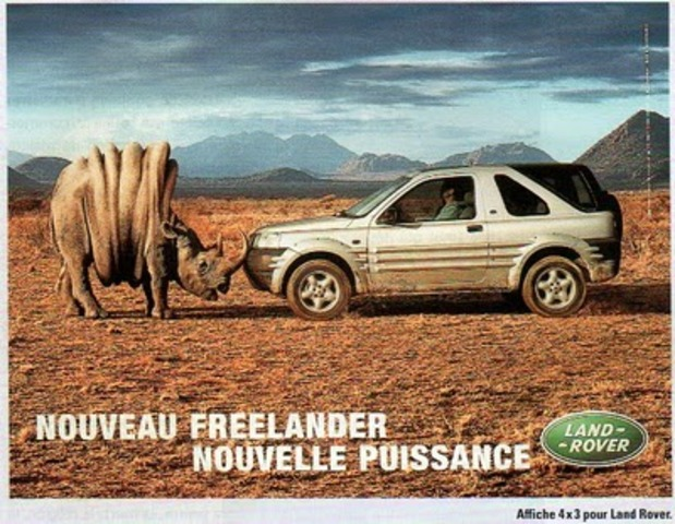 Affiche publicitaire Freelander - Land Rover