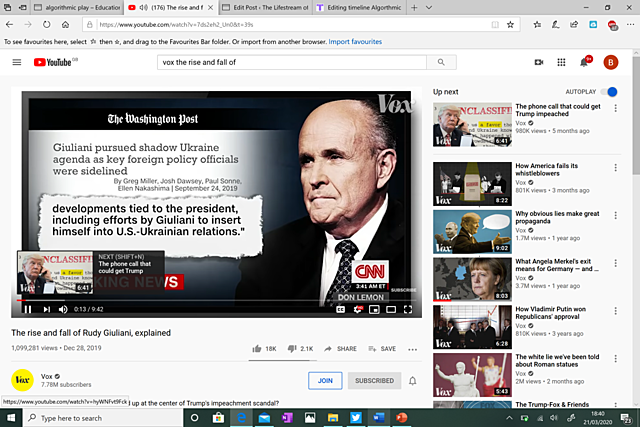 #14. The Rise and Fall of Rudi Guiliani (Recommendation No. 1)