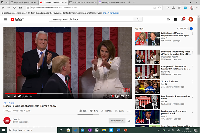 #22. Nancy Pelosi's clapback steals Trump's show