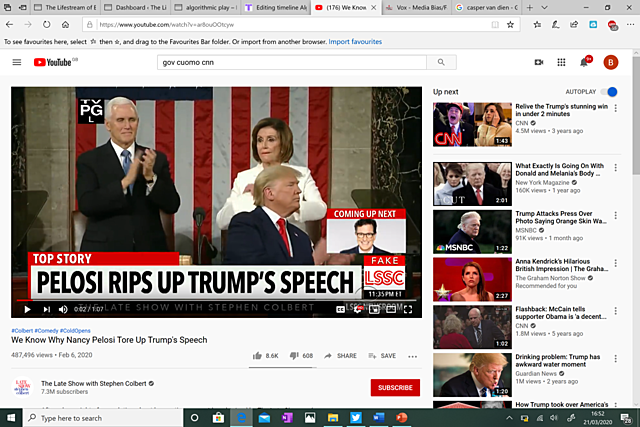 #23. The Late Show. Why Nancy Pelosi ripped up Trump's speech (Recommendation No. 1)