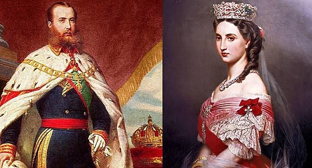 Maximiliano y Carlota llegar a ser los emperadores de México 1864 - 1867