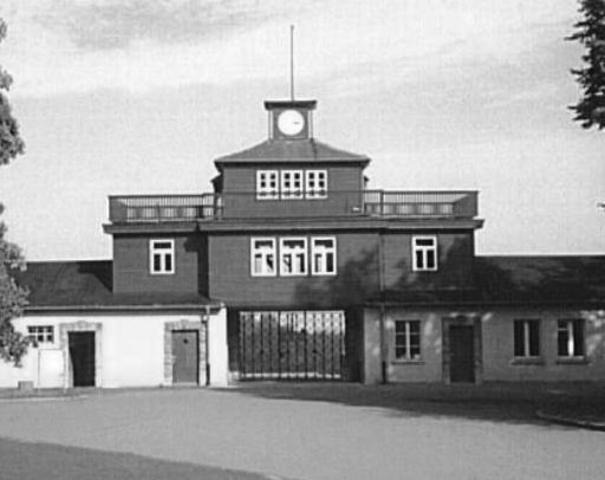 Death march of inmates at Buchenwald.