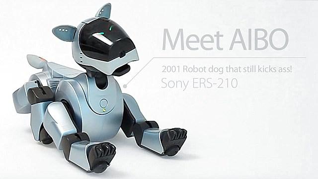 Primer perro robótico Aibo