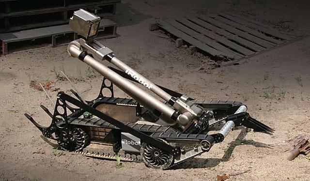 Packbots buscaba entre los escombros del world Trade Center