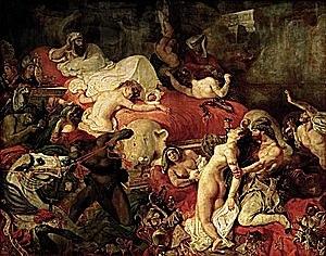 Delacroix (1798-1863): La mort de Sardanàpal