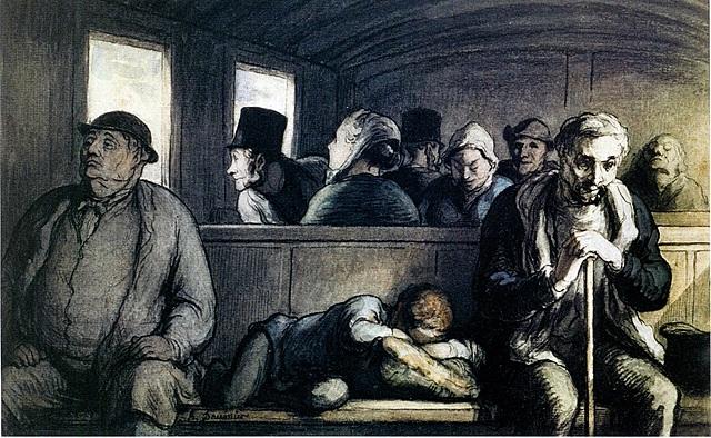 Daumier: El vago de la tercera classe