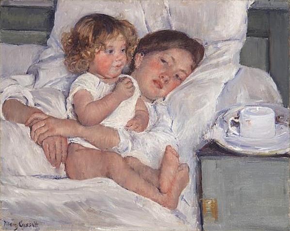 Mary Cassatt: Esmorzar al llit