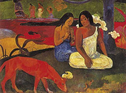 Paul Gaugin: El gos vermell
