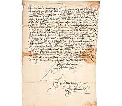 Escrito de Fray Juan De Zamárraga