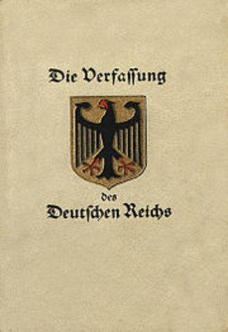 Constitucion de Weimar