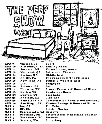 The Peep Show Tour Begins