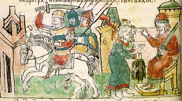 В лето 6453 (945г. н.э.) Смерть князя Игоря Старого