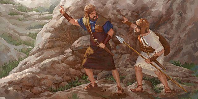 Jonathan and his armor-bearer attack
