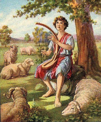 David as a shepherd