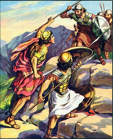 Jonathan attacks the Philistines with His Amrour-bearer