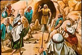 David Gathers 400 Men in the Cave at Adullam