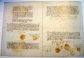 Concordia de Segovia, por la que Isabel y Fernando acuerdan el gobierno conjunto de Castilla