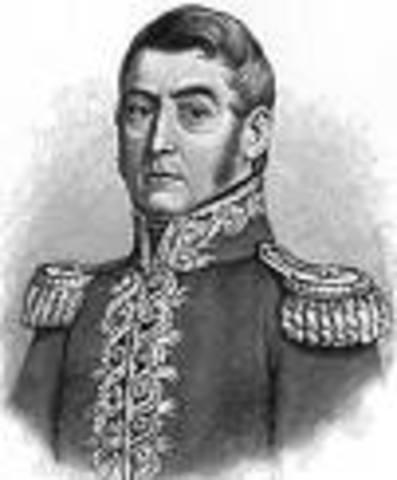 Los Libertadores Simón Bolívar y José de San Martín se entrevistan en Guayaquil.