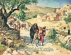 David flees Jerusalem