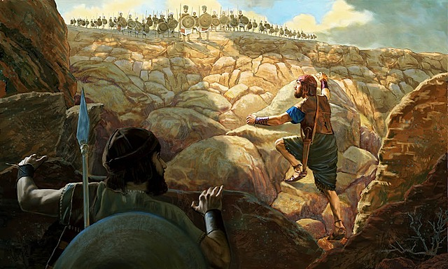 Jonathan and his armor-bearer defeat the Philistines