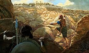 Jonathan and His Armor-Bearer Attack and Defeat the Philistines