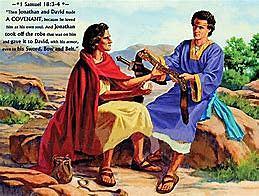 Jonathan makes a covenant